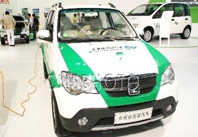 众泰纯电动汽车-国产多款新能源汽车亮相2011中日绿色博览会高清图片