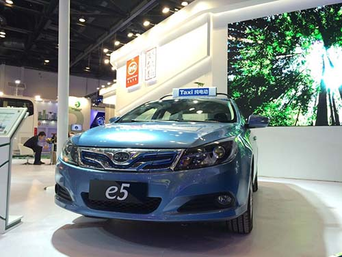 商用乘用齐发力 比亚迪亮相国际新能源汽车成果展高清图片