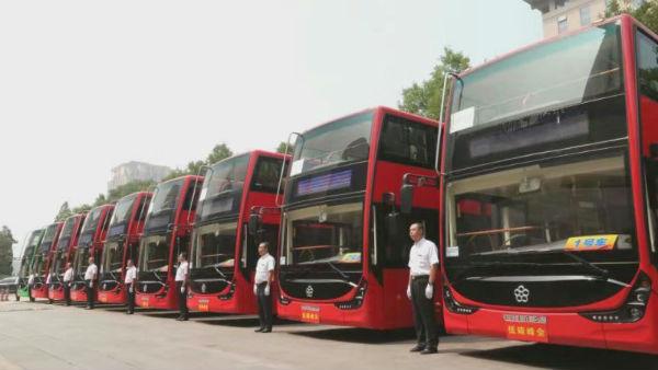 珠海银隆双层纯电动巴士