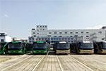 五洲龙百辆机场摆渡巴士装船出口沙特