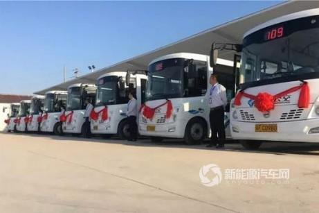 江苏:南通市如东县首批新能源公交投入运营