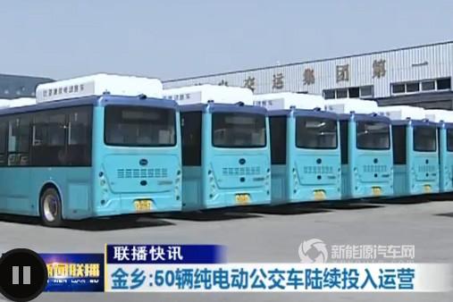 山东济南:金乡县投放50辆纯电动公交