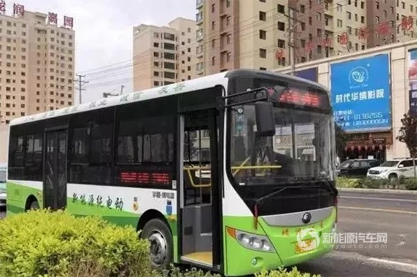 甘肃白银:靖远县引进新能源公交车