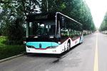 重汽豪沃10.5米无人驾驶纯电动全承载智能城市客车下线
