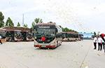 """打造""""氢""""样板 聊城30辆中通氢燃料公交车正式上线运营"""