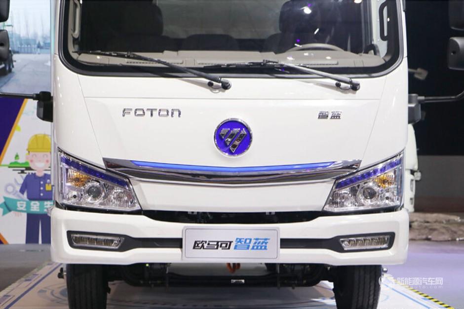 福田欧马可智蓝 4.5T 4.14米单排纯电动厢式运输车