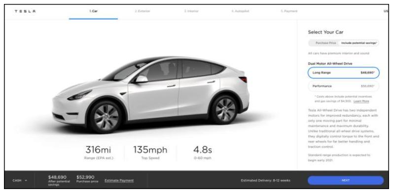 特斯拉Model Y及Model 3交付时间表更新