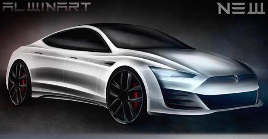 全新特斯拉Model S渲染图曝光 造型更激进