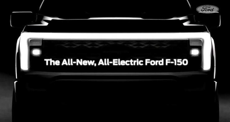 福特发布纯电版F-150预告图 2022年发布