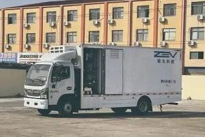 续航450公里,浙江舟山市首辆氢能冷链车亮相