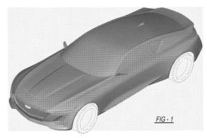 采用凯迪拉克最新家族设计语言 凯迪拉克双门纯电动车专利图曝光