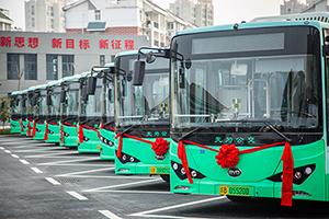 大力发展绿色公交,比亚迪纯电动公交车批量交付安徽无为