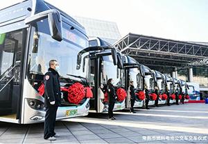 """清新城市 """"氢""""芯""""常""""在——16辆苏州金龙氢燃料电池公交交付常熟"""