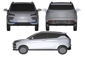 包括双门/四门两种车型 奇瑞捷途EV专利图曝光