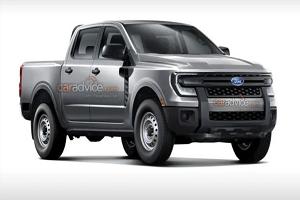 提供插混车型 全新福特Ranger皮卡渲染图