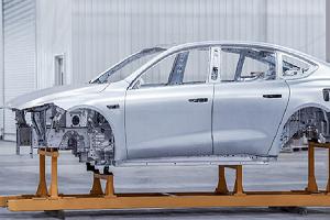 蔚来ET7首台生产线车身下线 蔚来合肥全新焊装生产线投入使用