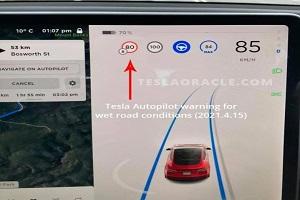 并会提示合理车速 特斯拉Autopilot将新增湿滑路面识别