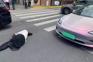 疑似上海一特斯拉刹车失灵 致一人受伤