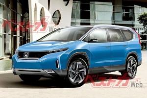有望于2023年亮相 全新本田CR-V纯电版渲染图
