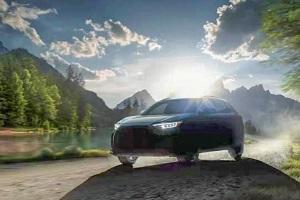 斯巴鲁首款纯电SUV预告图 2022年上市