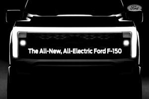 福特F-150电动版预告图 2021年5月20日首发