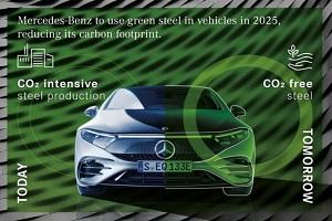 奔驰将在2025年起全面使用绿色钢材 为减少碳排放