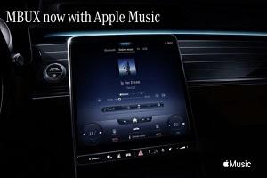 新增苹果音乐服务 奔驰EQS使用最新版本的MBUX系统