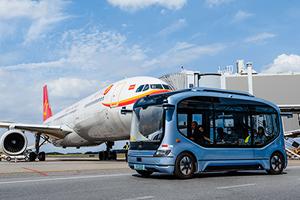 开启国内首例机坪内载人测试,宇通无人驾驶巴士进驻长沙黄花国际机场