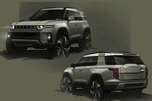 双龙全新电动SUV预告图 外形风格硬朗