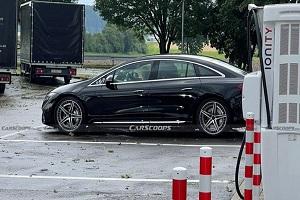 梅赛德斯-AMG EQS最新谍照 将于慕尼黑车展亮相