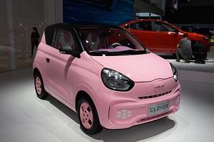 荣威科莱威CLEVER粉色版亮相2021成都车展