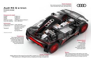 奥迪RS Q e-tron赛车开始装配 前后双电机综合功率约为500千瓦
