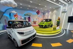 五菱NanoEV迪士尼限定款亮相2021天津车展