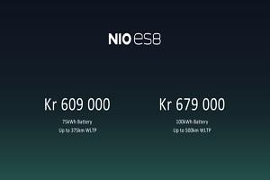 蔚来ES8挪威正式上市 约合人民币44.96万元起