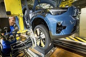 根特工厂年产能将提至13.5万辆 沃尔沃C40 Recharge下线