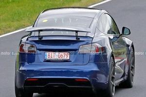 重启Model S Plaid+开发?特斯拉测试车实车照片曝光